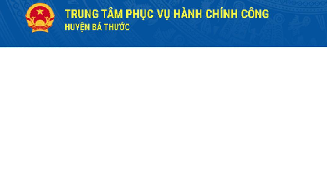 Trung tâm phục vụ hành chính công huyện Bá Thước